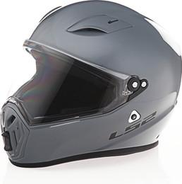 LS2 Street Fighter Solid Gloss Battleship Gray Helmet