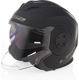 LS2 Verso Solid Matte Black Helmet