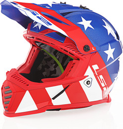 LS2 Gate Stripes Gloss Red White Blue Helmet