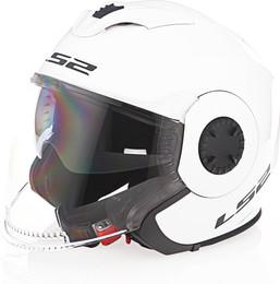 LS2 Verso Solid Gloss White Helmet