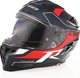 LS2 Challenger C Carver Gloss Blue Carbon Helmet