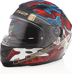 LS2 Stream Ninja Gloss Red Blue Helmet