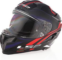 LS2 Challenger GT Propeller Red Blue Helmet