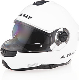 LS2 Strobe Solid Gloss White Helmet