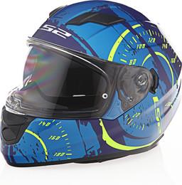 LS2 Stream Tacho Blue Hi Vis Yellow Helmet