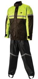 Nelson-Rigg Stormrider Rain Suit Black/Hi-Vis L - SR-6000-HVY-03-LG