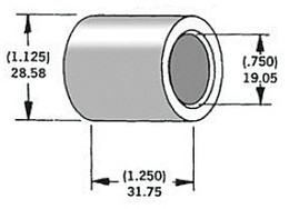 "HARDDRIVE AXLE SPACER ZINC 43674-95 3//4/""X1.425/"""