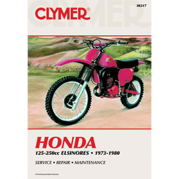 Clymer M317 Service Shop Repair Manual Honda Elsinores 125-250cc 73-80
