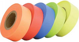 "HELIX TRAIL MARKING TAPE .75""X100' ( FLO YELLOW) (940-3165)"