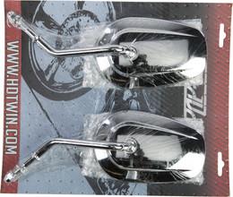 Harddrive Chr Mirror Oe Style Tapered Short Stem Chrome - 18-501