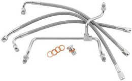 GOODRIDGE PREMIUM BRAKE LINE KIT SOFTAIL ABS FRONT (CLEAR) (HD82118-C)