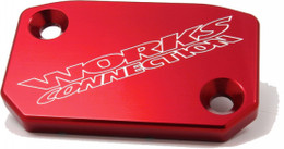 WORKS FRONT BRAKE COVER (RED) (21-065)