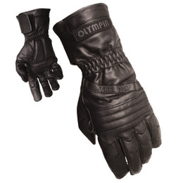 Olympia 410 Mens Sport Gel Black Leather Classic Gloves