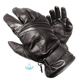 Olympia 180 Mens Monsoon Black Leather Waterproof Gloves