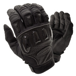 Olympia 715 Mens Xtreme Gel Black Leather Sport Gloves