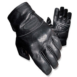 Olympia 452 Mens Leather Perforated Full Throttle Gloves