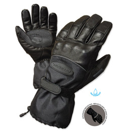 Olympia 4370 Mens Cold Throttle Black Winter Long Gloves