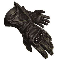 Olympia 340 Mens Vented Black Leather Sport Gloves