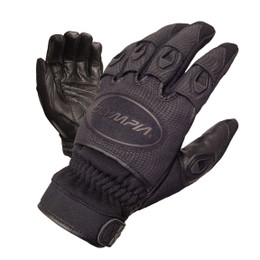 Olympia 755 Womens Ventor Black Leather Palm Gloves