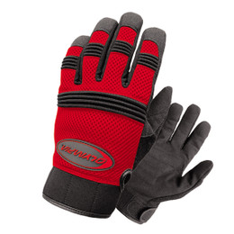 Olympia 760 Mens Air Force Gel Red Mesh Sport Gloves