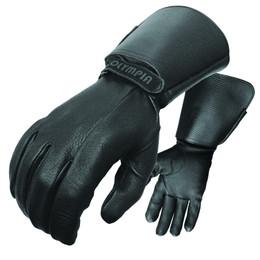 Olympia 144 Mens Deerskin Black Extended Length Gloves