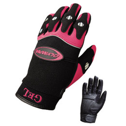 Olympia 712 Womens Gel Reflector Pink Nylon Leather Gloves