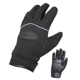 Olympia 712 Womens Gel Reflector Black Nylon Leather Gloves