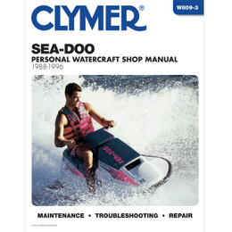 Clymer W809-3 Service Shop Repair Manual Sea-Doo Water Vehicles 88-96