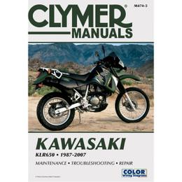 Clymer M474-3 Service Shop Repair Manual Kawasaki KLR650 1987-2007