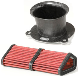BMC CRF482/08KIT Carbon Filter Intake Funnel Kit Ducati 1098 / 1198 (S) 07-12