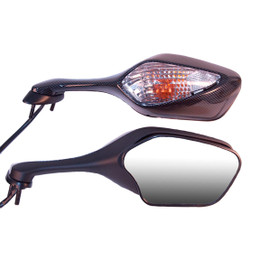 EMGO OEM Replacement Mirror for 08-09 Honda CBR1000RR Left Side Carbon