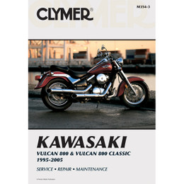 Clymer M354-3 Service Shop Repair Manual Kawasaki Vlcn 800 / Classic 95-05
