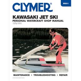 Clymer W801 Service Shop Repair Manual Kawasaki Jet Ski 1976-1991