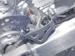 WORKS ALUM REAR CALIPER GUARD CR XR (25-012)
