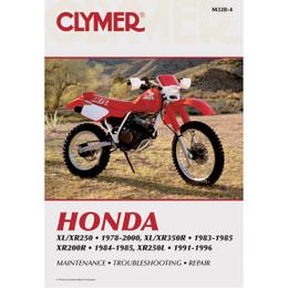 Clymer M328-4 Service Shop Repair Manual Hon XL/XR250 78-00 / XR350R/200R 83-85