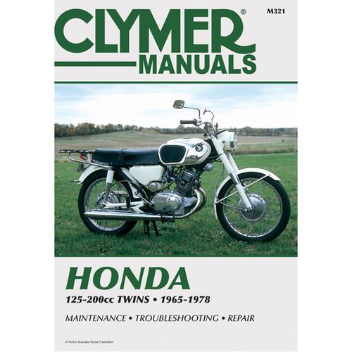 Clymer M321 Service Shop Repair Manual Honda 125-200cc Twins 65-78
