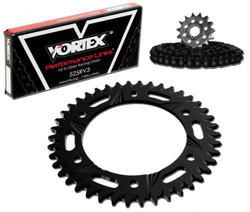 Vortex CK5265 Chain and Sprocket Kit SSA SUZ GSX-R1000 07-08 (STK,ALU)