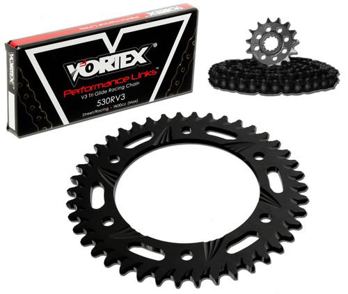 Vortex CK5276 Chain and Sprocket Kit SSA SUZ GSX1300R 08-15 (STK,ALU)