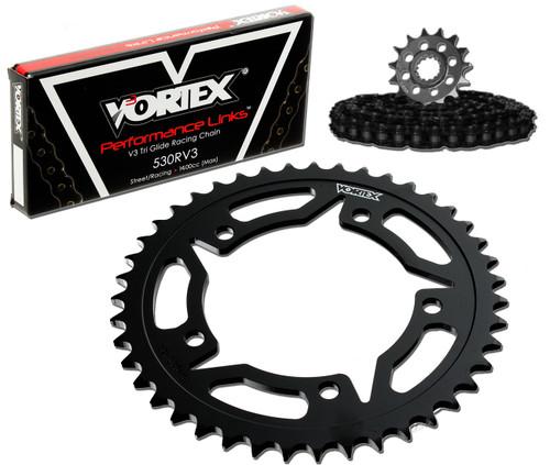 Vortex CK4153 Chain and Sprocket Kit WSS KAW ZX-14R 12-15 (STK,STL)
