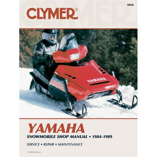 Clymer S826 Service Shop Repair Manual Yamaha Snowmobile 84-89
