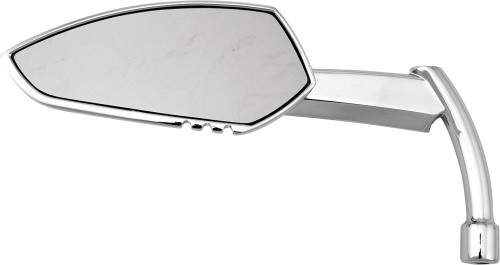 HARDDRIVE APACHE MIRROR W/KNIFE STEM CHROME LEFT (M60-6343CL)