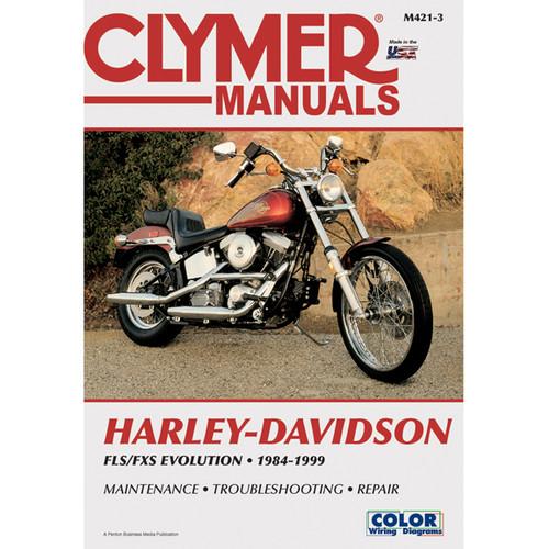 Clymer M421-3 Service Shop Repair Manual Harley FLSFX Softail Big-Twin Evo 84-99