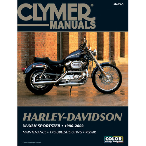 Clymer M429-5 Service Shop Repair Manual Harley XL 883 / 1200 Sportster 86-03