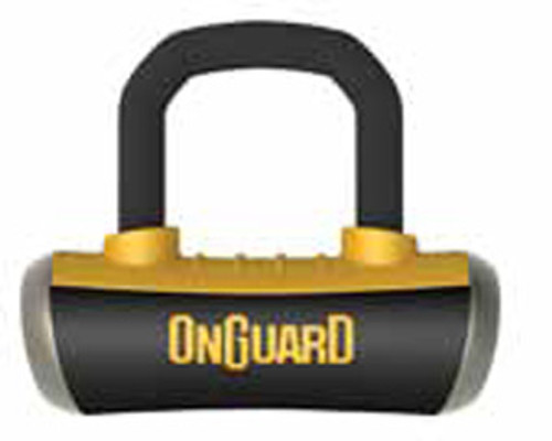 OnGuard 8048 Boxer Disc Lock with Pouch & Reminder Black