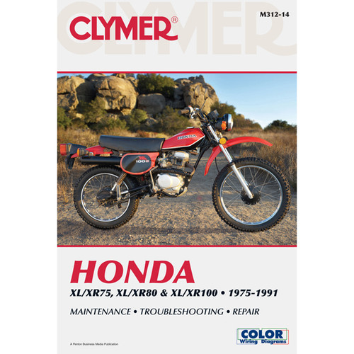Clymer M312-14 Service Shop Repair Manual Hon XL/XR75 / XL/XR80 / XL/XR100 75-91