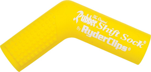 RYDER CLIPS RUBBER SHIFT SOCK (YELLOW) (RSS-YELLOW)