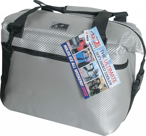 """AO COOLERS 36 PACK CARBON COOLER SILVER 21""""X10""""X12"""" (AOCR36SL)"""