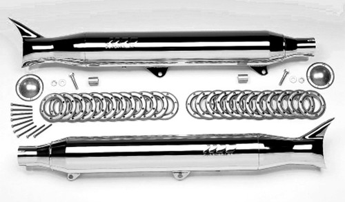 Supertrapp IDS Slip-On Exhaust 2:2 Chrome FT Caps FLSTS 97-07