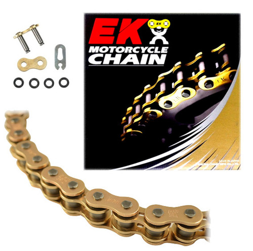 EK 520SRO6 Gold O-Ring Motorcycle Chain (Clip Master)