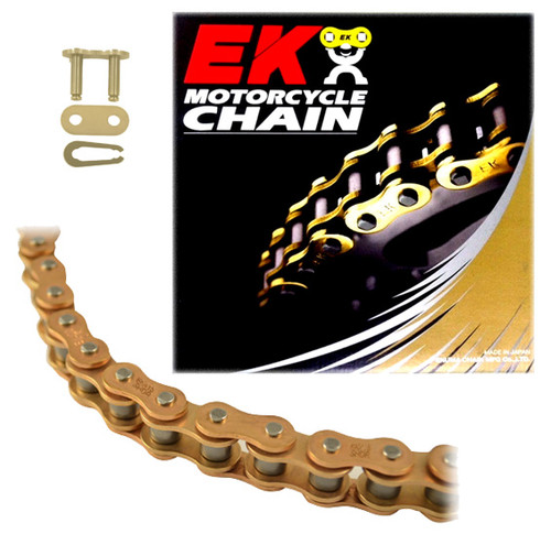EK 415SHDR Gold MX Race Motorcycle Chain (Clip Master)